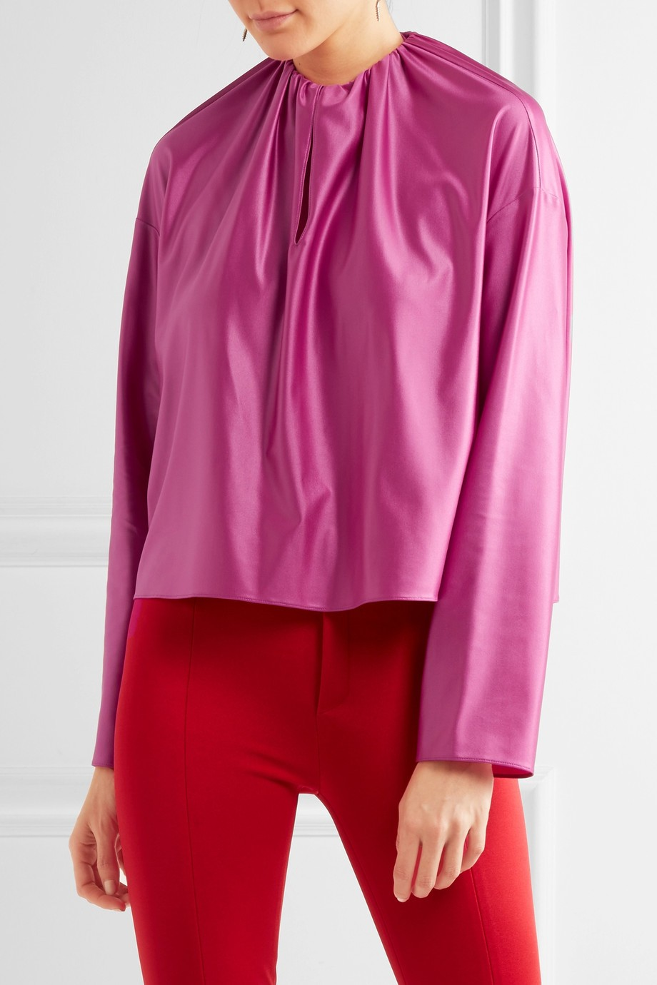 Satin blouse Balenciaga buy Satin blouse Balenciaga internet shop