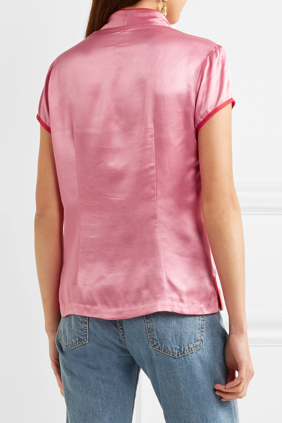 Satin blouse Staud buy Satin blouse Staud internet shop