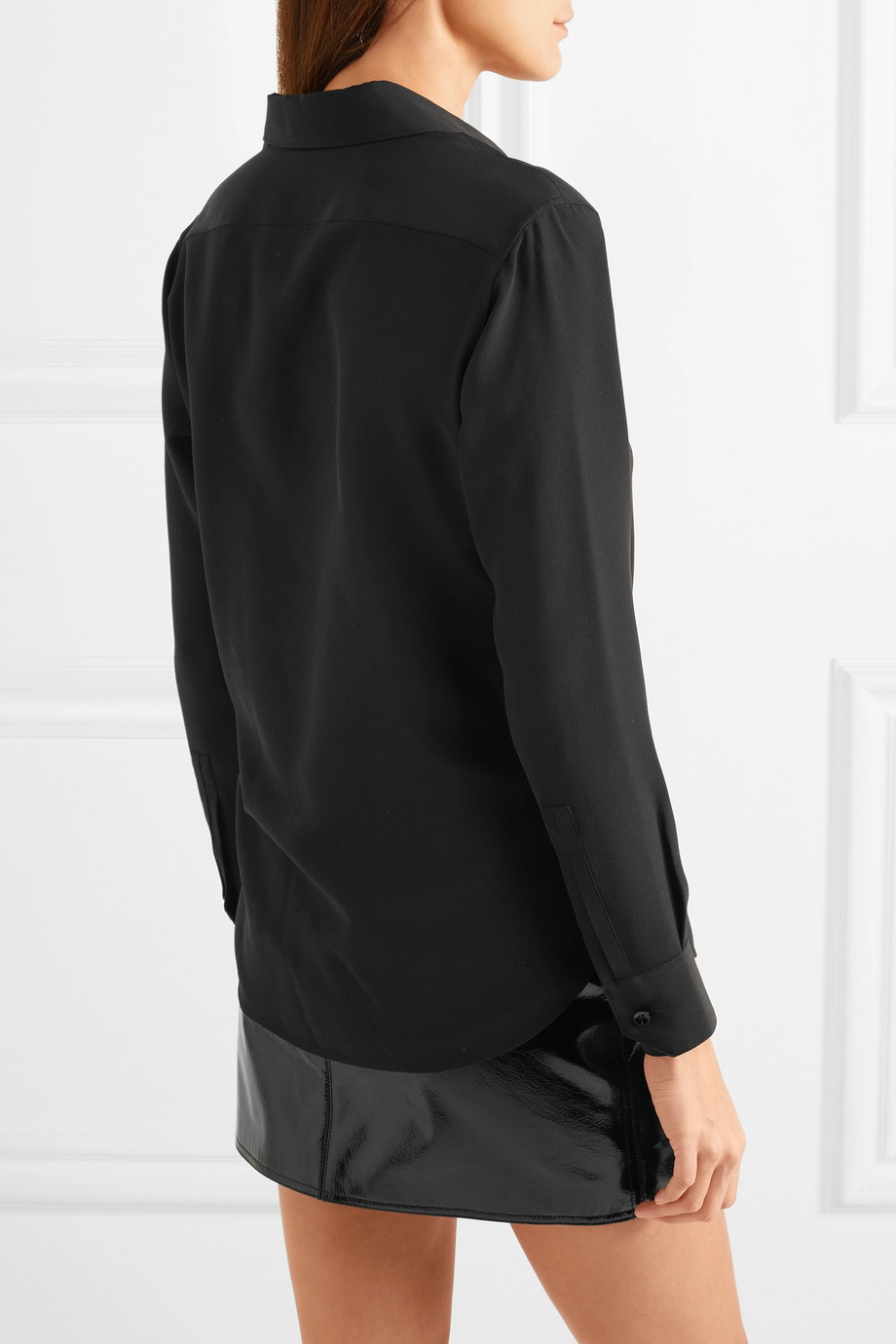 Crepe de chine blouse Saint Laurent buy Crepe de chine blouse Saint Laurent internet shop