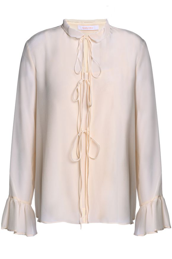 Crepe de chine blouse SEE BY CHLOÉ buy Crepe de chine blouse SEE BY CHLOÉ internet shop