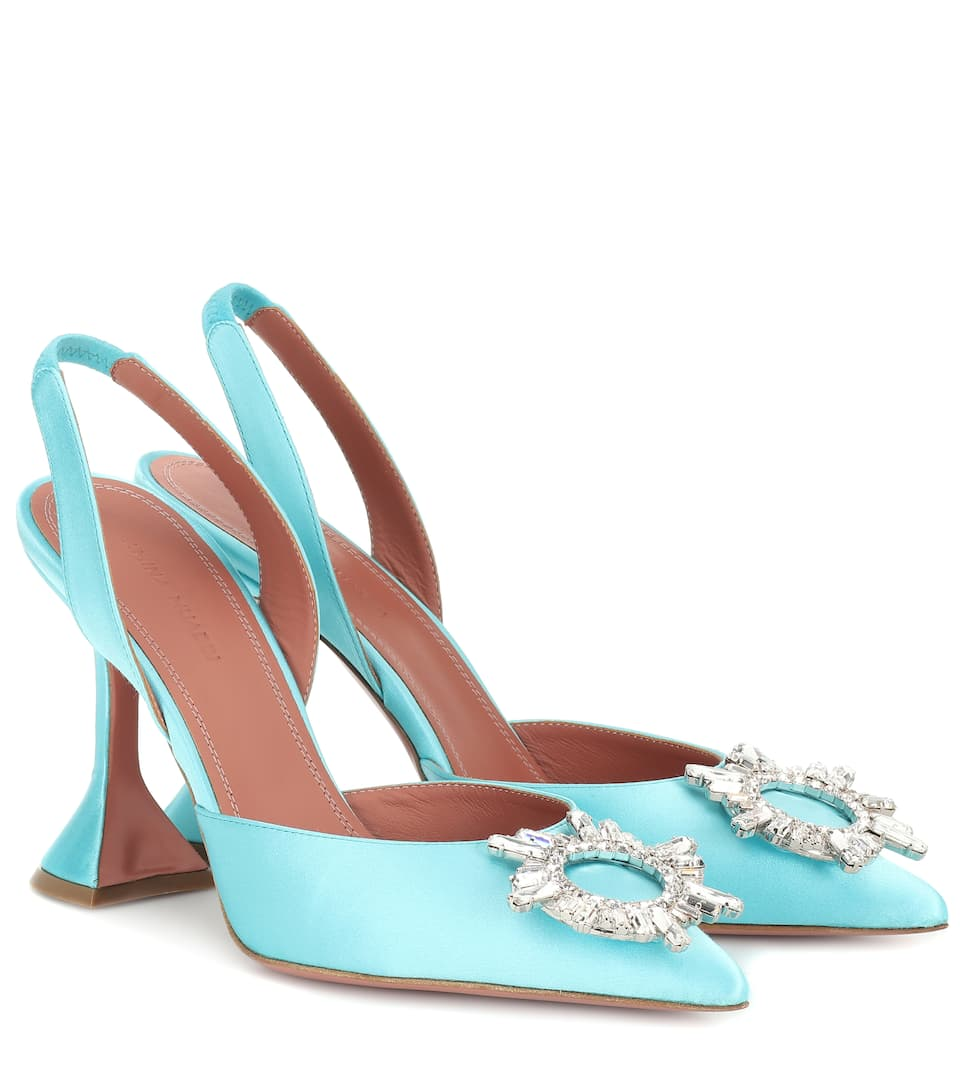 pumps satin Amina Muaddi buy pumps satin Amina Muaddi internet shop