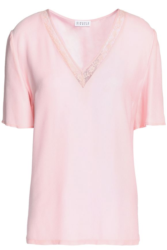 Crepe de chine blouse CLAUDIE PIERLOT buy Crepe de chine blouse CLAUDIE PIERLOT internet shop