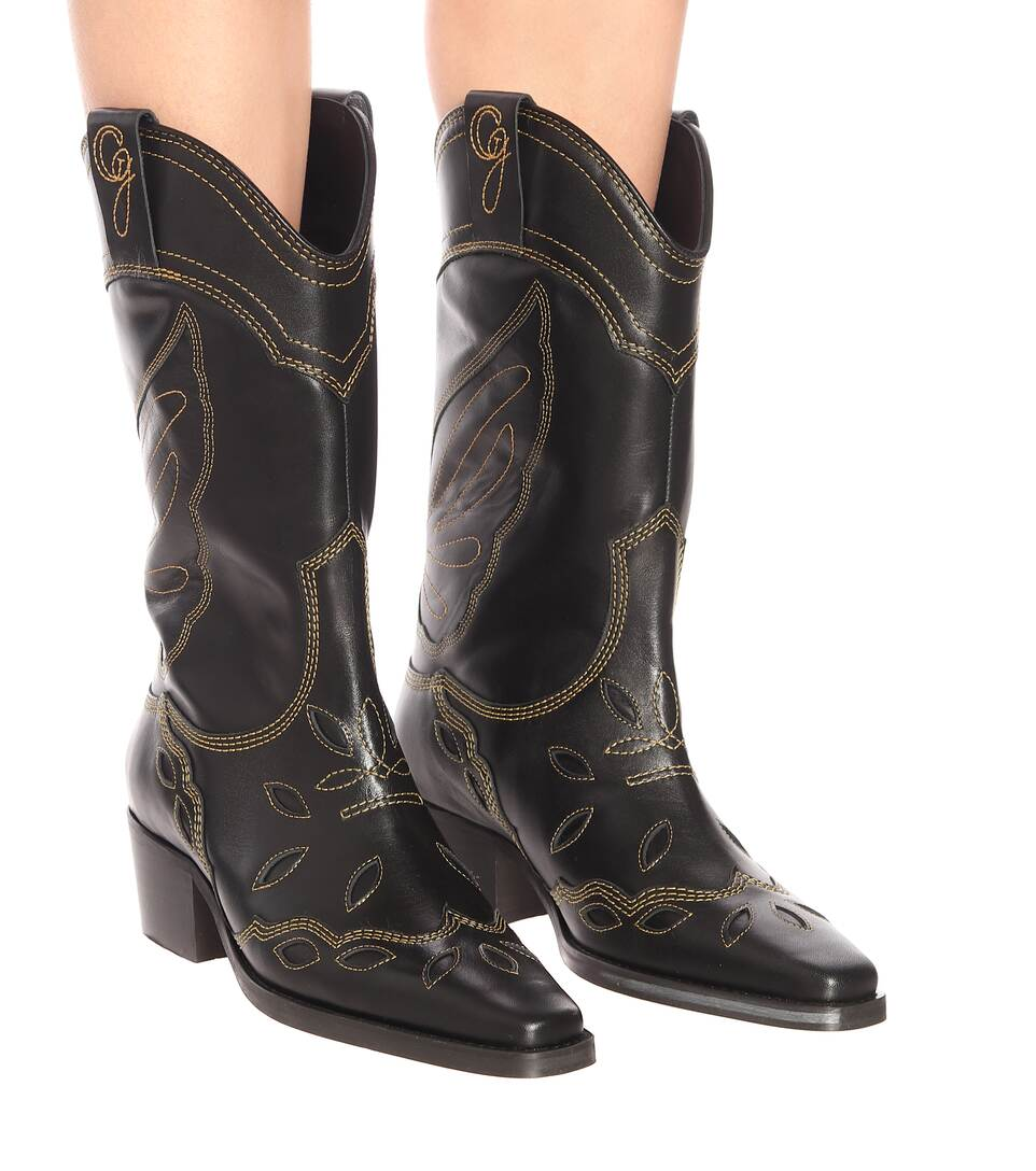 Leather Boots Ganni buy Leather Boots Ganni internet shop