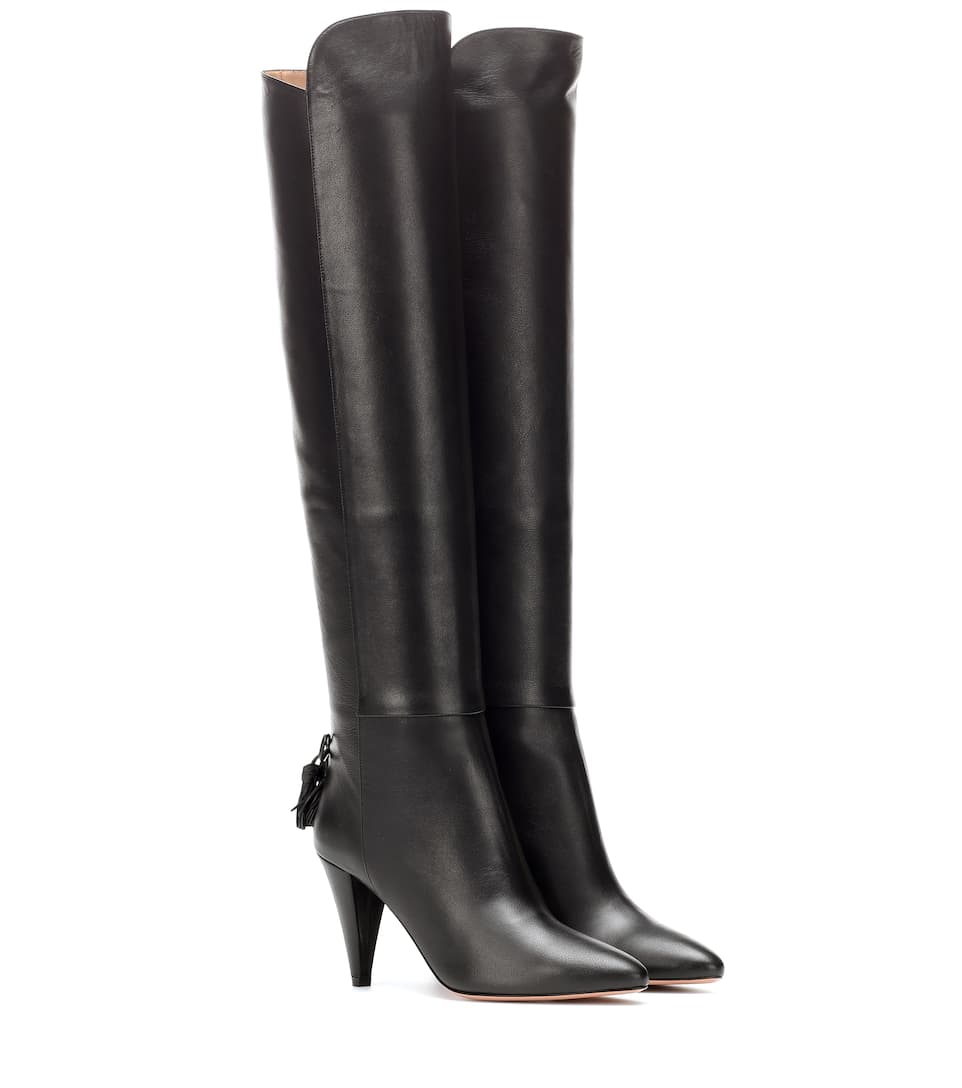 Leather Boots Aquazzura buy Leather Boots Aquazzura internet shop