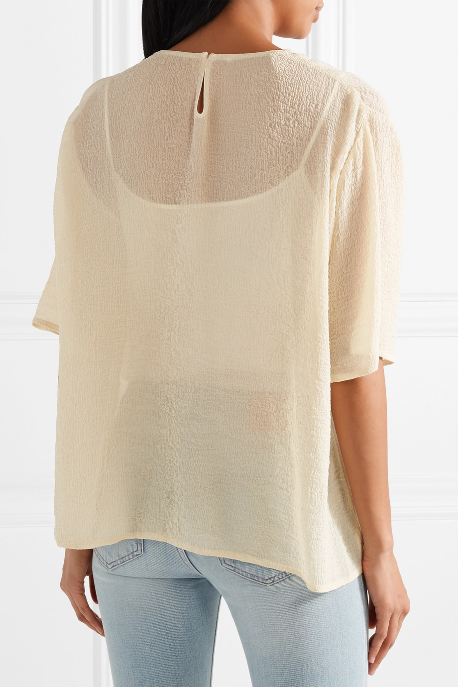 Silk blouse Mansur Gavriel buy Silk blouse Mansur Gavriel internet shop